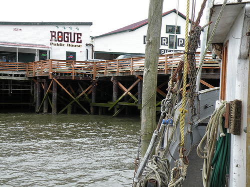 Pier 39 cannery building, Columbia River in Astoria, Oregon